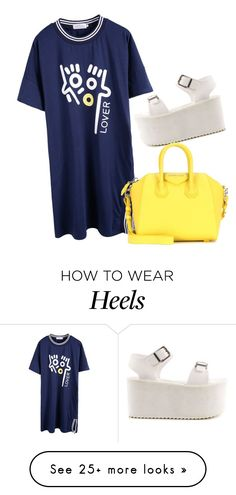 """""""Sonrisa azul"""" by ivon-hernandez on Polyvore featuring Y.R.U. and Givenchy"""