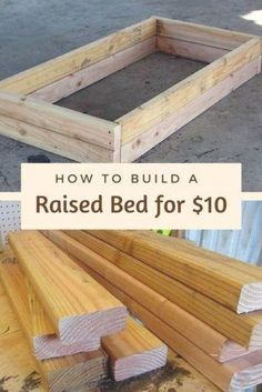 How to Build a Raised Bed for $10 - This DIY backyard idea takes just 20 minutes to make, but it'll make you smile every time you see it! #gardenideas Diy Garden Projects, Outdoor Projects, Raised Flower Beds, Raised Bed Diy, Diy Raised Garden Beds, Wood For Raised Beds, Raised Bed Gardens, Raised Herb Garden, Raised Garden Bed Plans