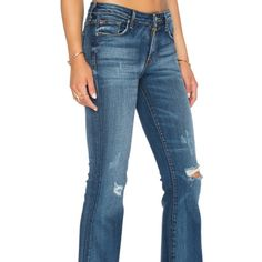 "**FINAL SALE** Hudson Jeans Midrise Mia denim Sz 26 NWT. Midrise Mia 5 pocket flares. Distressing is intended by label. Inseam is approx 34.75"". Color is Bead. Retails for $229. **SALE PRICE IS FINAL. NO OFFERS, PLEASE** Hudson Jeans Jeans"