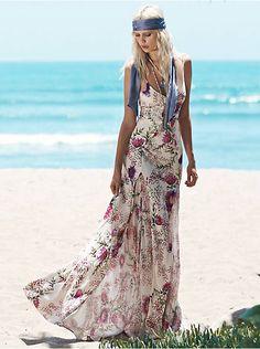 Free People Sateen Twill Gown,  595.00 Kleider, Freie Leute, Bohemian Mode,  Hippie bb90c0e8cc
