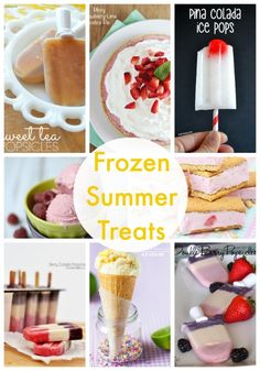20 delicious frozen treats to make this summer!