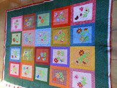 Artes da Silvana: Quilting em tecido com listras