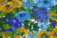 Pretty Floral Vintage Fabric by paperhillfabrics on Etsy, $15.00