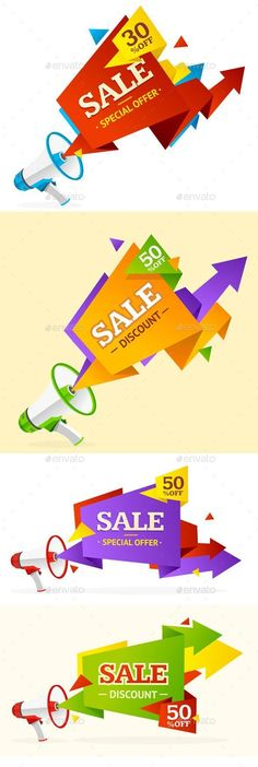 Buy Discount Banner Sticker by mousemd on GraphicRiver. Promotion or Sale Poster.