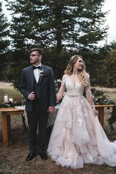 Lace long sleeves champagne wedding dresses with horsehair skirt - # check more at . - Lace long sleeves champagne wedding dresses with horsehair skirt – # check more at wedding. Country Wedding Dresses, Wedding Dresses Plus Size, Dream Wedding Dresses, Wedding Dress Styles, Bridal Dresses, Maxi Dresses, Event Dresses, Whimsical Wedding Dresses, Wedding Dresses With Color