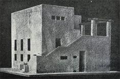 Adolf Loos · model for villa Moissi, Vienna, 1923