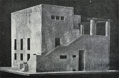Adolf Loos · model for villa Moissi, Vienna, 1923