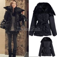 Womens Downs Long Coats Woman Fox Fur Hood Down & Parkas Women