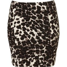 Multi Animal Print Bodycon Skirt ($50) ❤ liked on Polyvore featuring skirts, mini skirts, bottoms, faldas, saias, women, elastic waist skirt, animal print skirt, cotton skirts and elastic waistband skirt