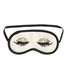 Channel Audrey Hepburn with this long-lashed sleep mask Pajama Party, H&m Online, Sleep Mask, Couture, Audrey Hepburn, Good Night Sleep, Girly Things, Lounge Wear, Fashion Online