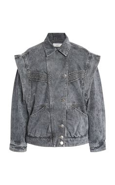 Isabel Marant Étoile's 'Harmon' jacket is crafted from intentionally distressed denim. Stockholm Street Style, Paris Street, Jackets For Women, Clothes For Women, Women's Jackets, Milan Fashion Weeks, London Fashion, Stella Jean, Gray Jacket