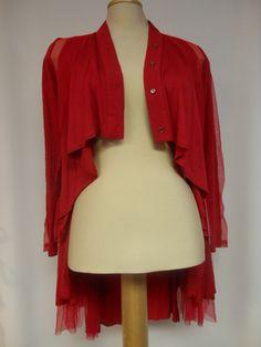 T1075RED Tango Mango, Bollero, Red – Silhouette Fashion Boutique