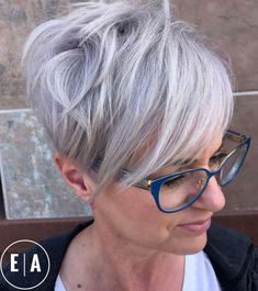 Silver Pixie With Long Layers