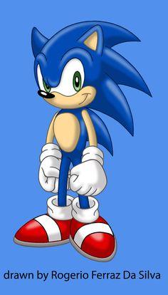 Sonic by rogferraz on DeviantArt Hedgehog Art, Sonic The Hedgehog, Sonic Birthday Cake, Story Outline, Alucard, Archie Comics, A Cartoon, Pretty Cool, Great Artists