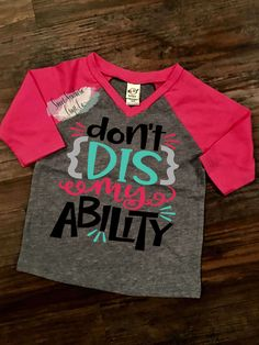 FREE SHIPPING***Don't Dis My Ability,Youth T-Shirt,Autism Awareness,Baseball Raglan,Asperger, Awareness Month,Specials Education by SweetSouthernCraftCo on Etsy