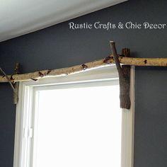 DIY Curtain Rod Idea