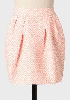 joan holloway printed jacquard skirt