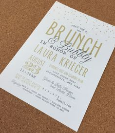 brunch & bubbly bridal shower invite