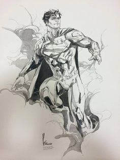 Superman, by Kenneth Rocafort, for Free Comic Book Day...