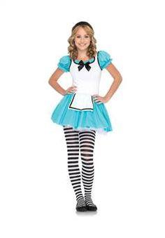 Leg Avenue Aqua White 2 PC. Enchanted Alice, includes tutu apron dress with satin bow accent and matching headband.