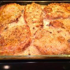 Mushroom Sauce Baked Pork Chops Allrecipes.com - Mom's Pork Chop Casserole