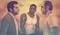 Michael De Santa, Franklin Clinton & Trevor Phillips (GTA V)