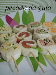Appetizers for parties Healthy Appetizers, Appetizers For Party, Appetizer Recipes, Snack Recipes, Cooking Recipes, Menu Brunch, Brunch Recipes, Brunch Food, Tea Party Sandwiches