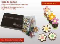 ¡Una flor en el chocolate para alegrar el día a alguien muy especial! Ideas Originales, Chocolate Candies, Bonbon, The Originals, Candy, Messages, Ideas, International Day, Woman