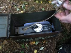 geocache - only one key will fit! very nice!