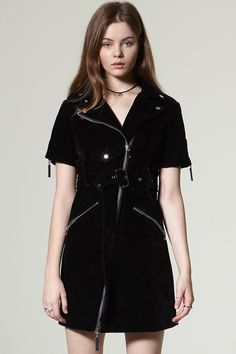 Zoe Velvet Suede Short Sleeve Dress Discover the latest fashion trends online at storets.com