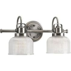 Progress Lighting, Archie 2-Light Antique Nickel Vanity Fixture, P2991-81DI at The Home Depot - Mobile
