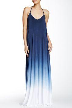 American Twist Tie Dye Spaghetti Maxi Dress