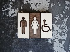 "Unisex Restroom Sign - Unique Bathroom Decor - Modern Interior Design - 6"" x 8"" Size - Optional Braille & Text                                                                                                                                                                                 More"