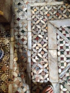 Mosaic floors in st Marc's cathedral, Venice.