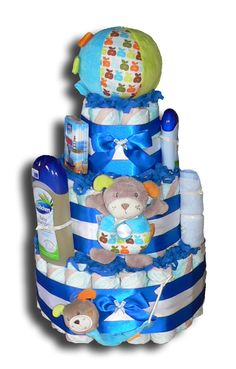 Hündchenspiel Windeltorte - Geschenk zur Geburt