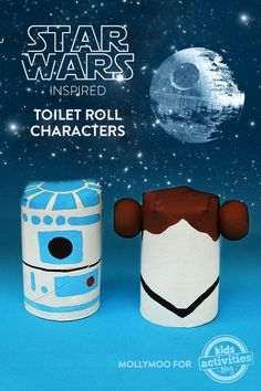 Wonderful way to chase away the summertime blues. Thanks @KidsActivitiesBlog for the suggestion: Star Wars Crafts: Toilet Roll Movie Characters To Inspire Creative Play