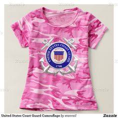 United States Coast Guard Camouflage Shirts; 2% of all Code Five sales are donated to Children of Fallen Soldiers Relief Fund, Inc. and Fisher House™  http://www.zazzle.com/united_states_coast_guard_camouflage_shirts-235077566970023907?CMPN=shareicon&lang=en&rf=238937315234385249