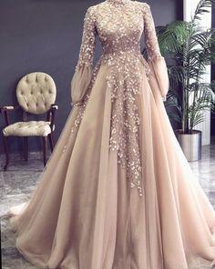 Champagne Prom Dress, High Neck Prom Dress, Vintage Prom Dress, Beaded Prom Dress, Lace Applique Pro on Luulla Muslim Prom Dress, Hijab Prom Dress, Muslimah Wedding Dress, Hijab Evening Dress, Muslim Wedding Dresses, Elegant Prom Dresses, Beaded Prom Dress, Bridal Dresses, Dress Lace