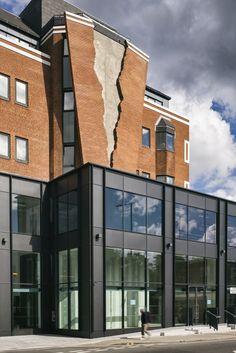 Artist Alex Chinneck Installs Ripped Brick Facade on London Building  Image: Faruk Pinjo