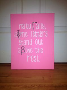 Gamma Phi Beta Letter Canvas by EmilysSororityCrafts on Etsy, $15.00