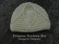 Designs by Diligence: Primrose Newborn Hat