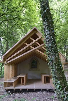 Built by OBIKA Architecture in Saint-Maurice-sous-les-Côtes, France with date 2014. Images by Nicolas Waltefaugle. At the heart of the Natural Park of Lorraine, the Sainte-Genevieve chapel can be found through the hiking trails near...