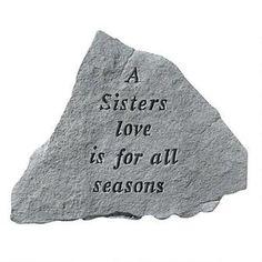 A Sisters Love: Cast Stone Memorial Garden Marker $29.95