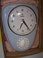 Vintage Junghans Electora Porcelain Kitchen Clock Timer Germany Original Box
