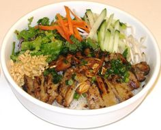 Grilled Chicken Vermicelli- NOT a recipe but inspiration for when I want to make this at home.
