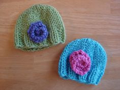 Fiber Flux...Adventures in Stitching: Free Knitting Pattern...Baby Doll Hats!