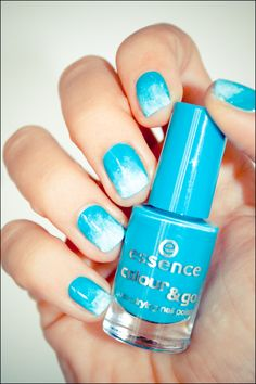 This is so pretty! looks like clouds!  and these essence nail polishes are $.99!