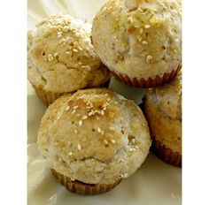 Lemon Sesame Muffins, substitute GF flour