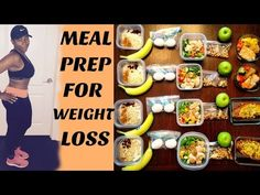 WEIGHT LOSS MEAL PREP FOR WOMEN (1 WEEK IN 1 HOUR) - YouTube