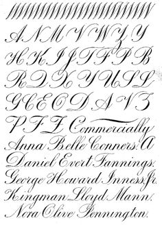 Image result for Copperplate Calligraphy exemplars